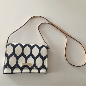 Kate Spade Grant French lemon navy crossbody